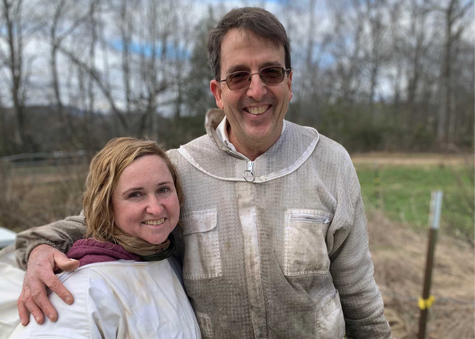 Shanti Volpe with Greg Rogers of Haw Creek Honey